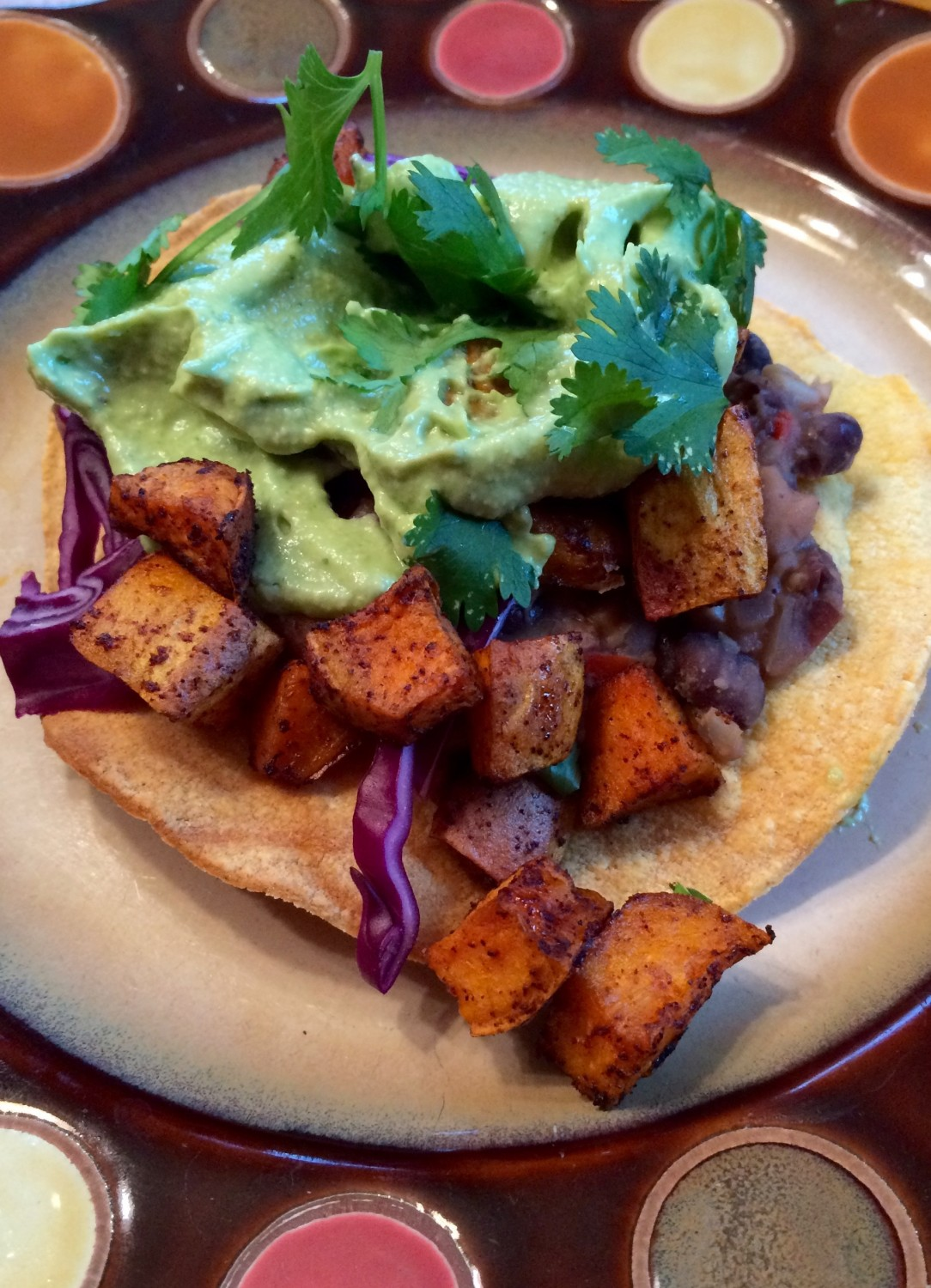 sweet potato tostada